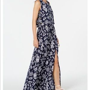 Michael kors Printed Grommet-Laced Maxi Dress